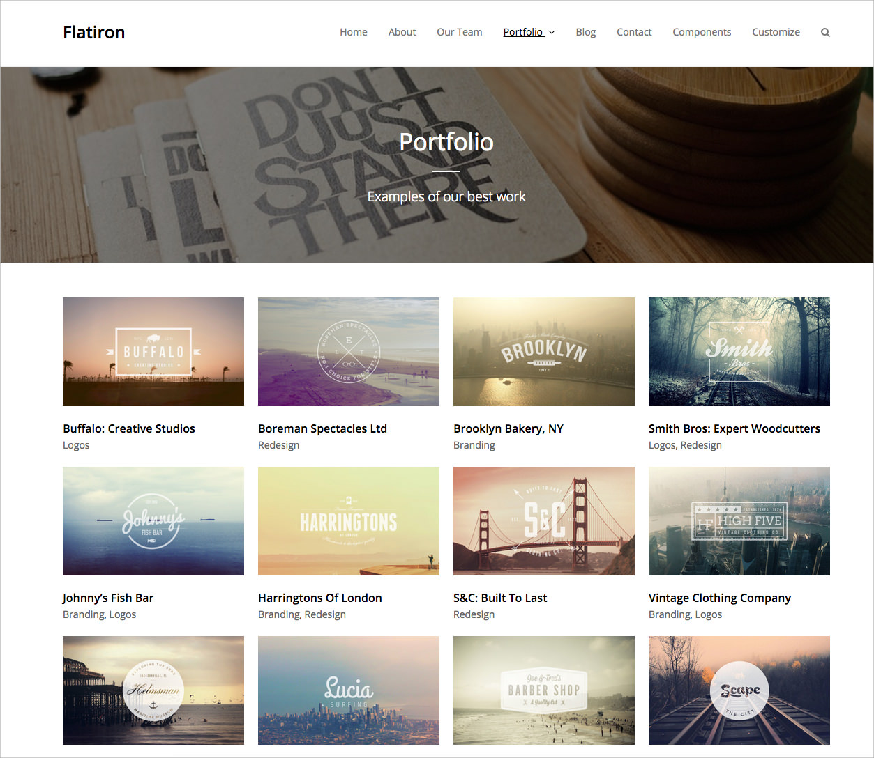 Flatiron Business WordPress Theme - $25