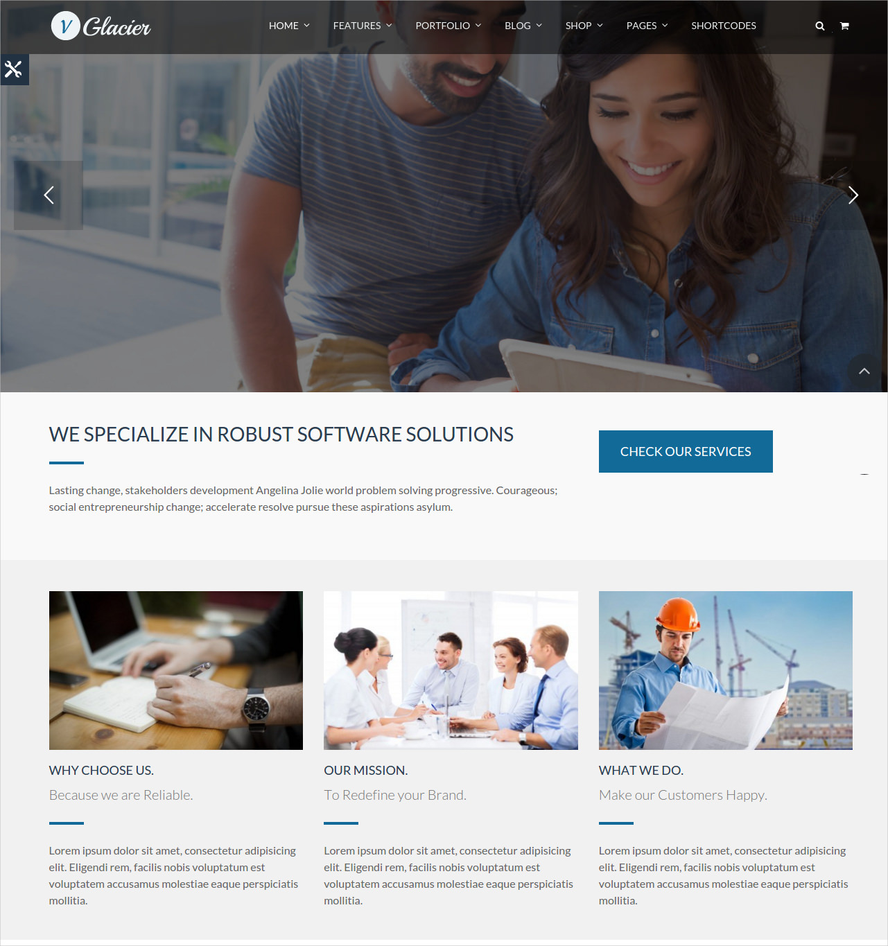 Flexible Business WordPress Theme - $59