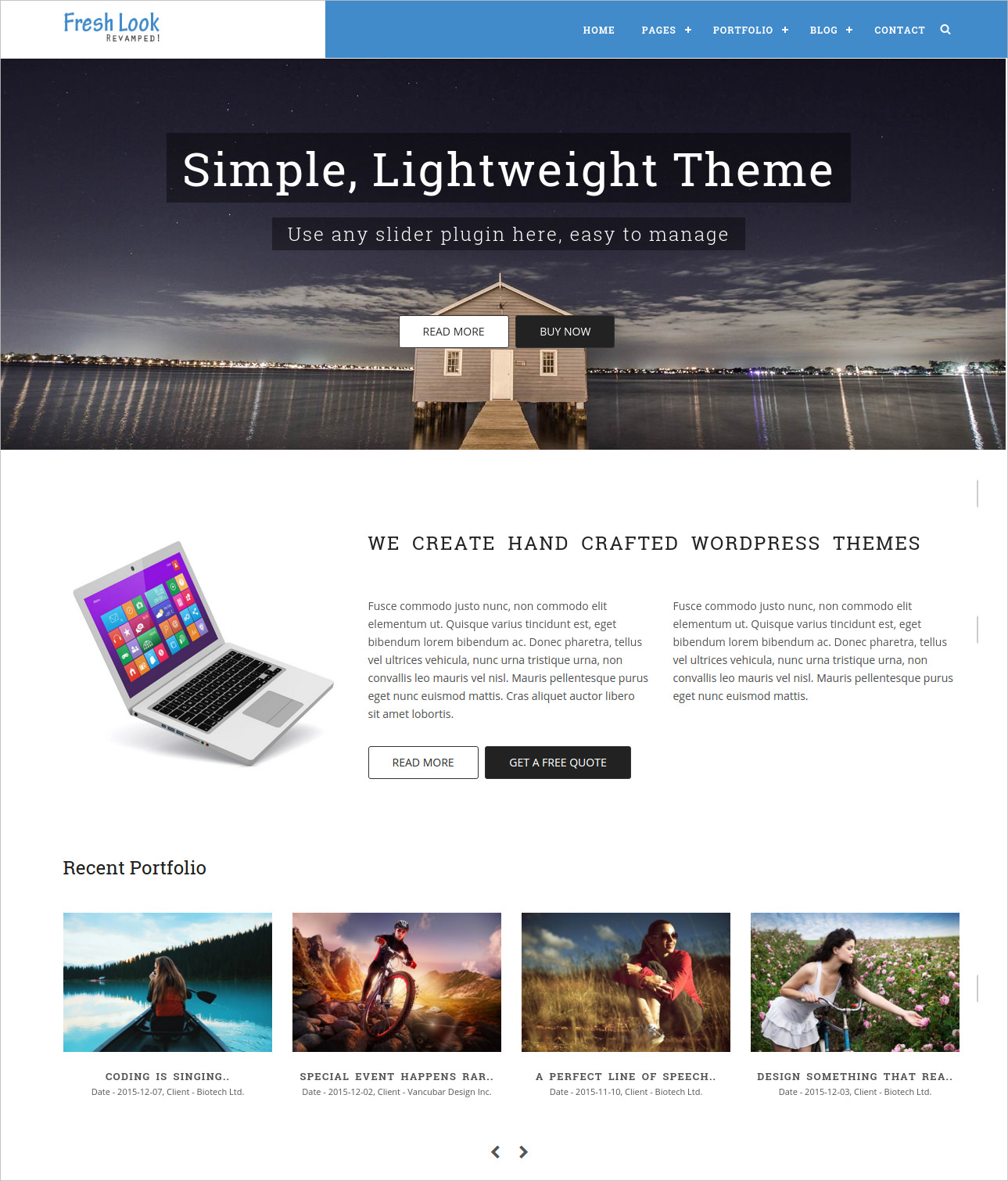 Fresh Look Business WordPress Theme - $49