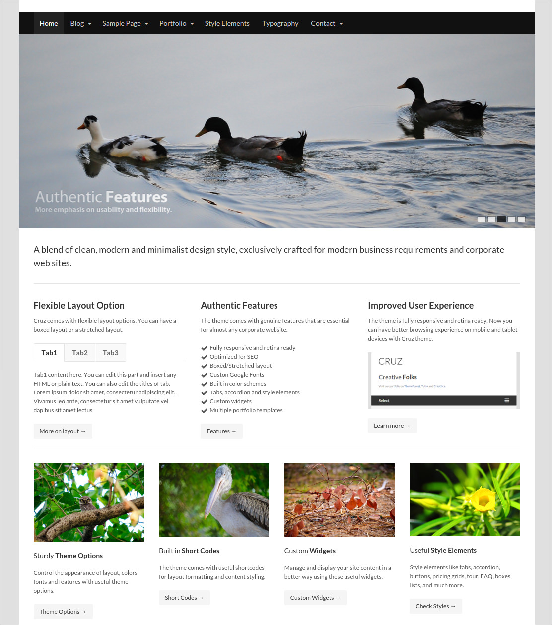 Modern and Minimalist Business WordPress Theme