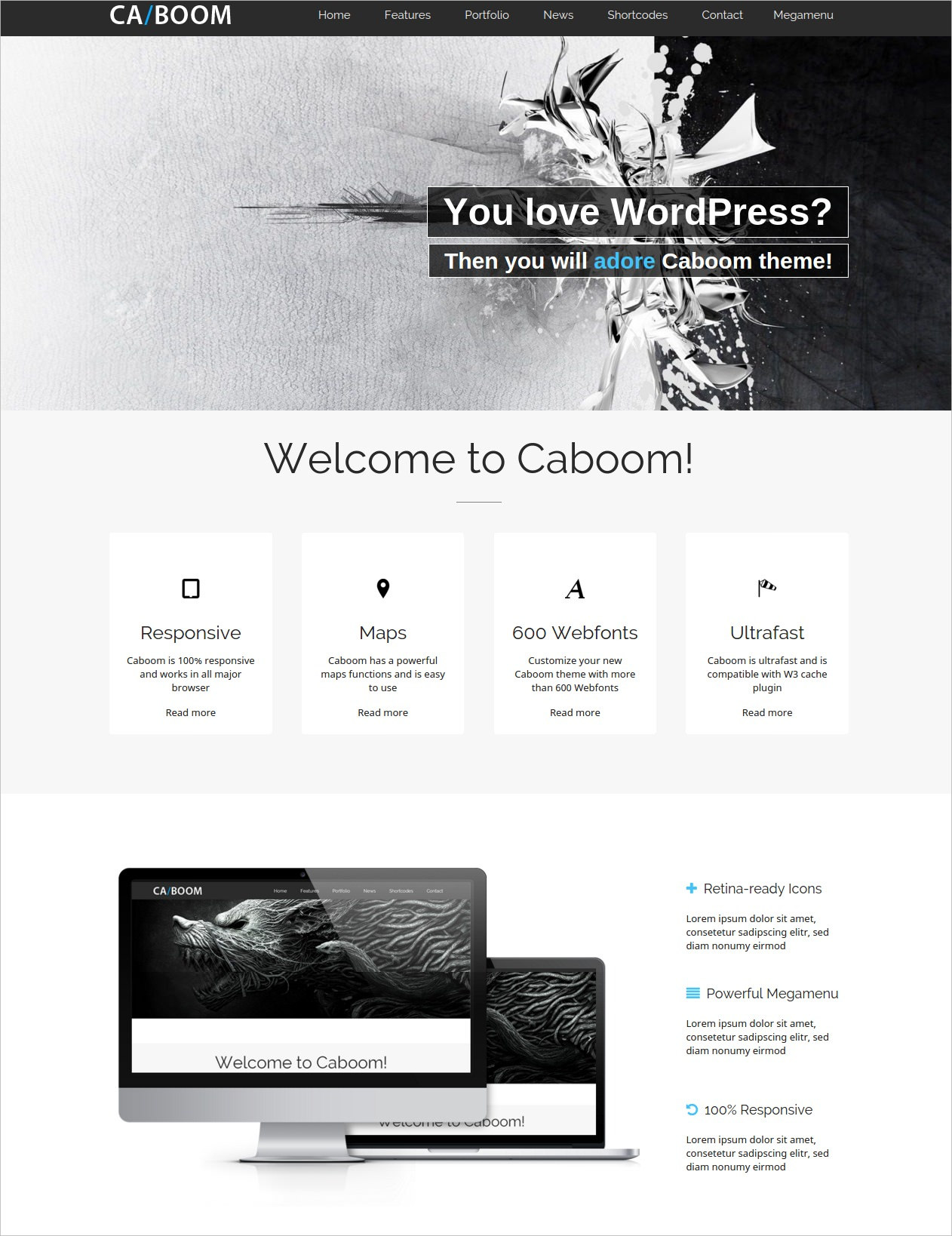 Multipurpose Business & Portfolio WP Theme - $49