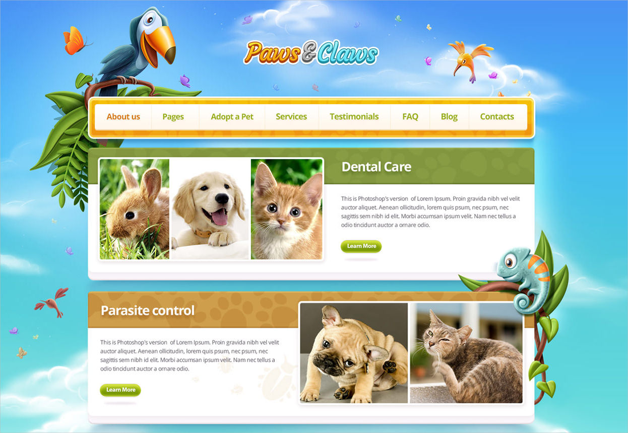 Paws & Claws Business WordPress Theme - $55