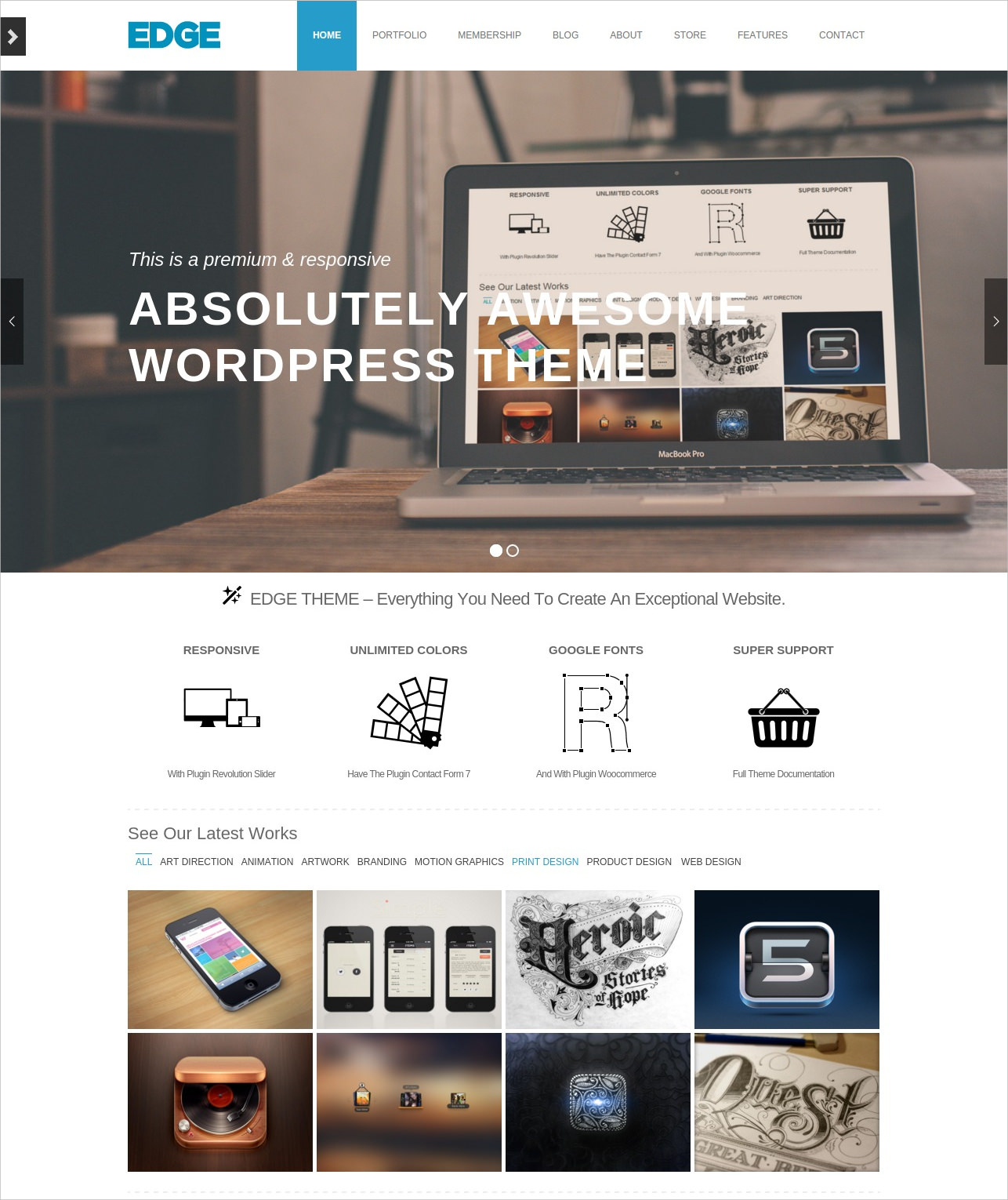 Portfolio & Business WordPress Theme - $39