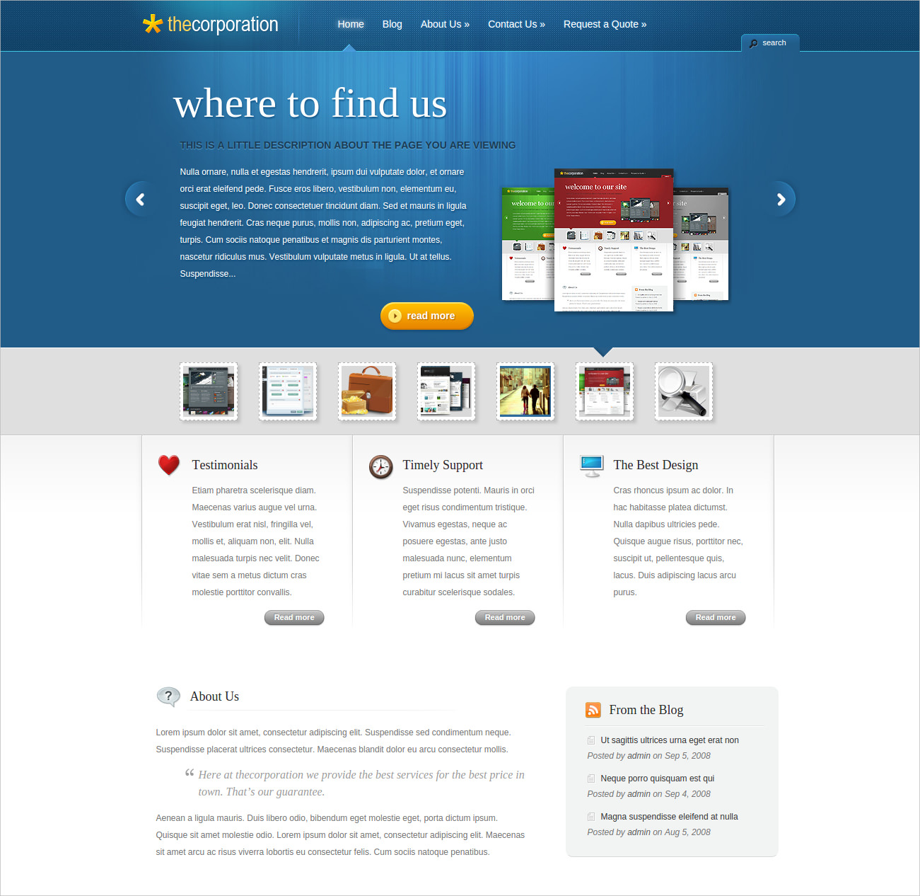 Professional WordPress Theme for Business Sites