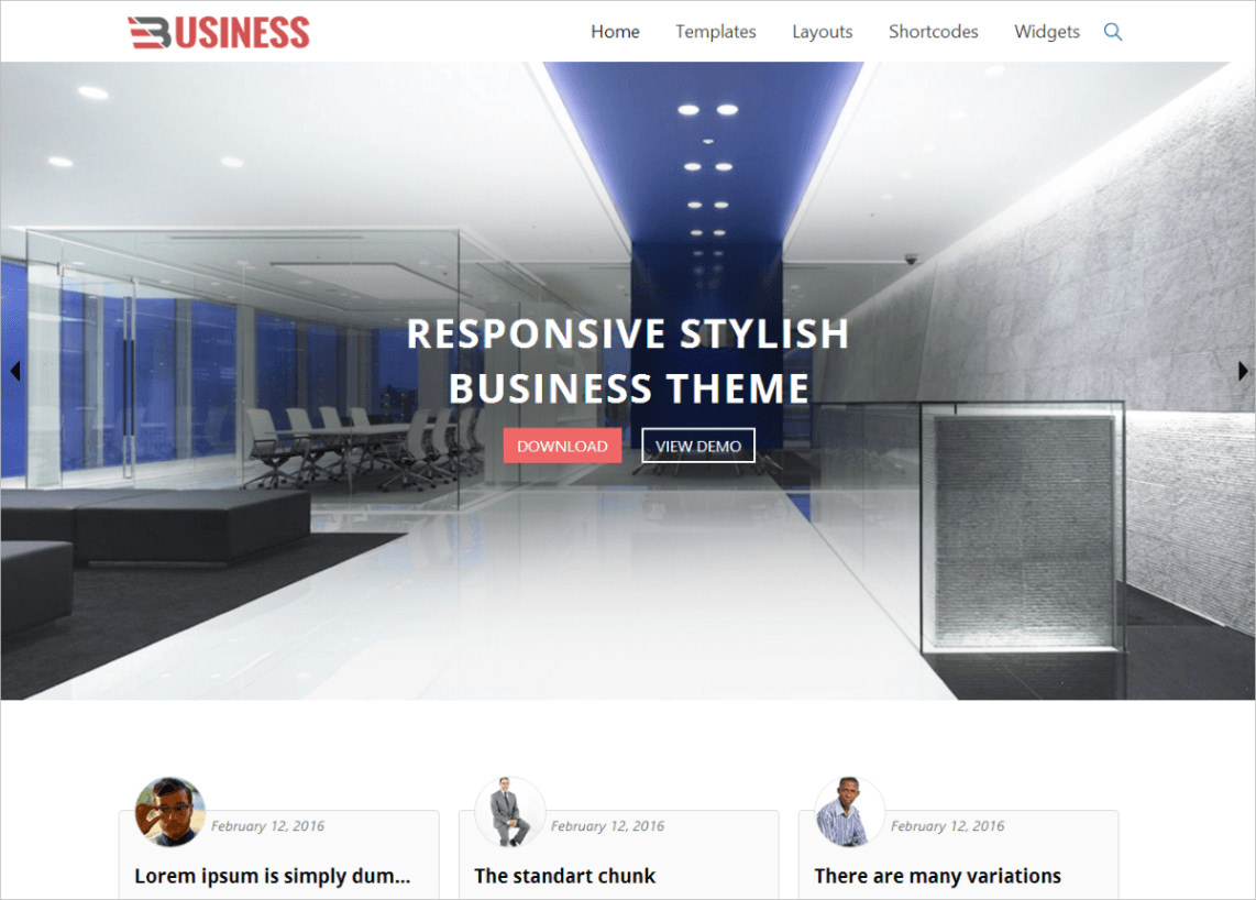 Responsive Stylish Business Theme - Free