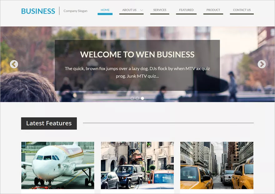 Simple Business WP Theme - Free