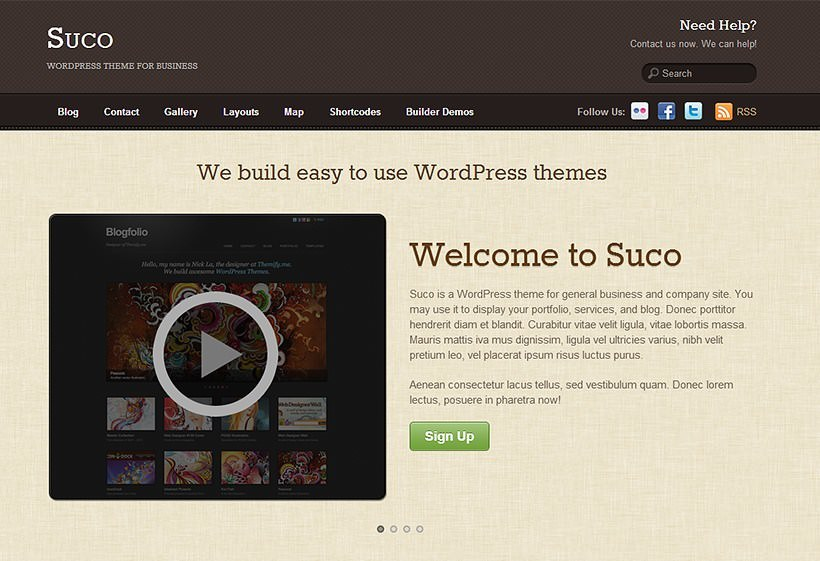 Simple WordPress Theme For Business