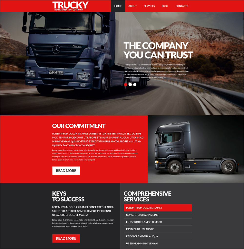 Transportation Business WP Theme - $75