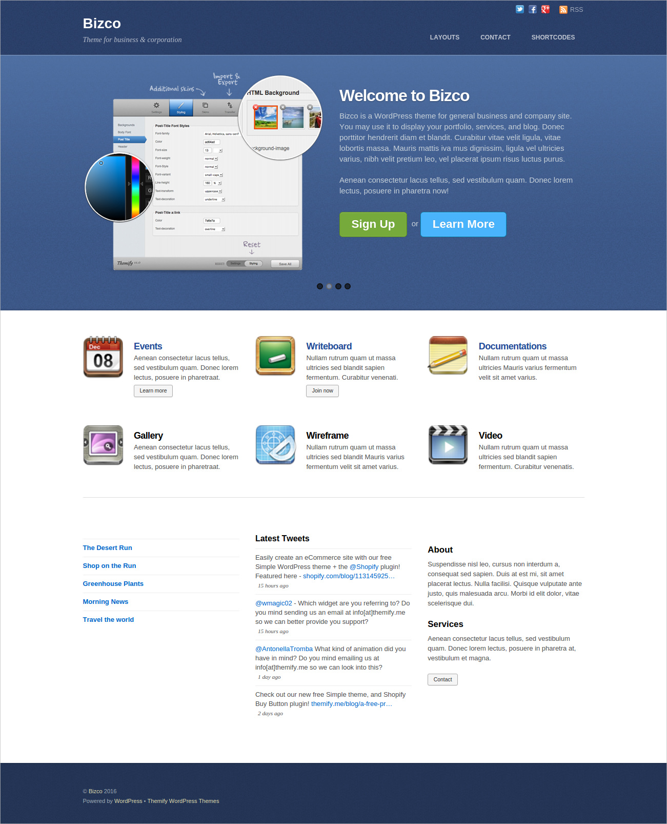 WP Theme for Business & Corporation