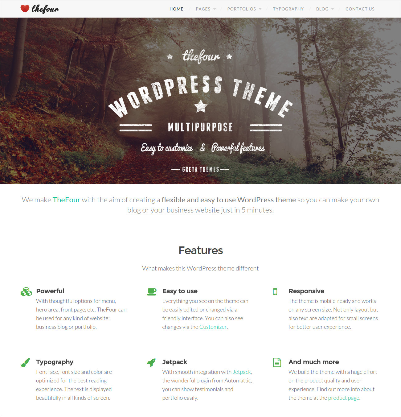 WordPress Business Blog Theme