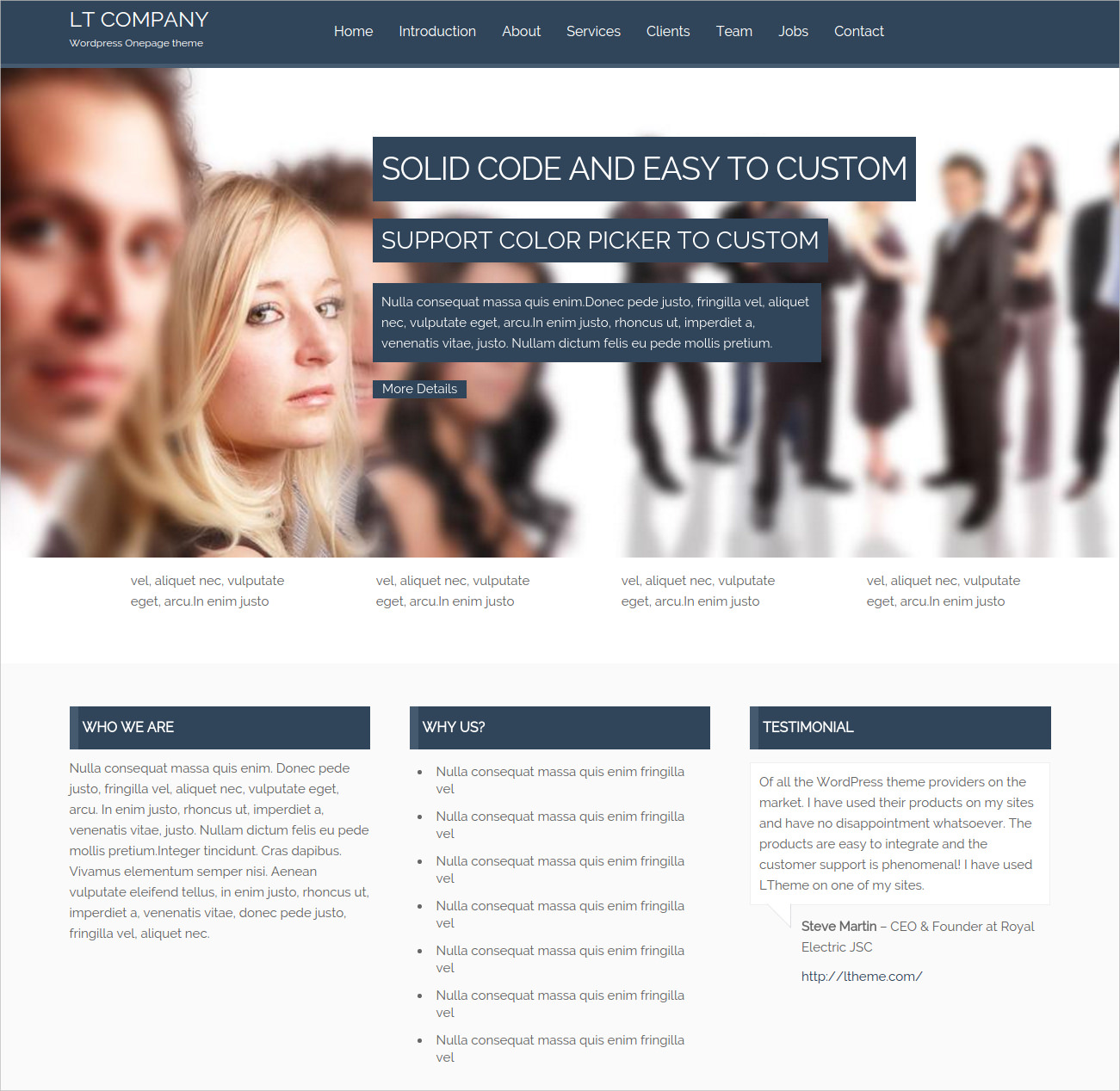 WordPress Theme Tailored for Business