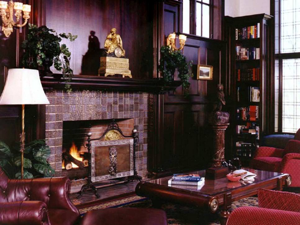 Traditional Formal Living Room With Brick