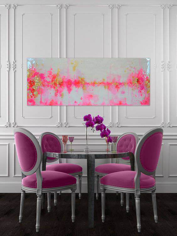 Neon Colors in Dining Room