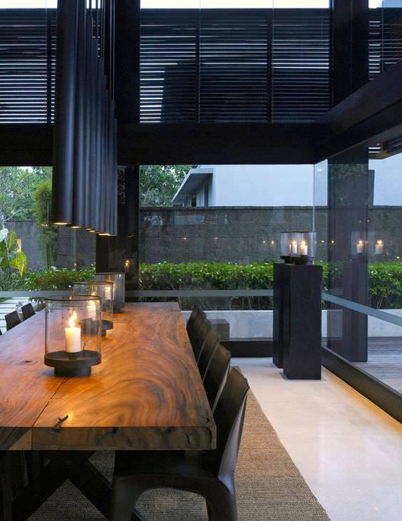 wooden dining room 3