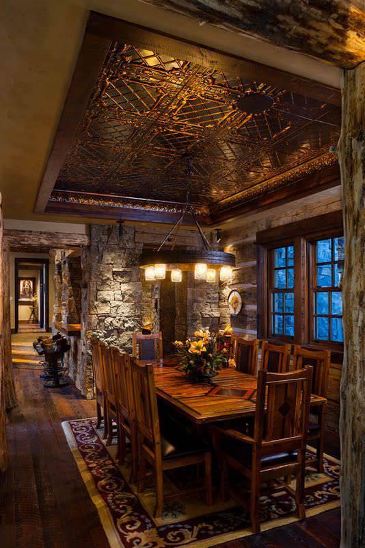 rustic dining room1