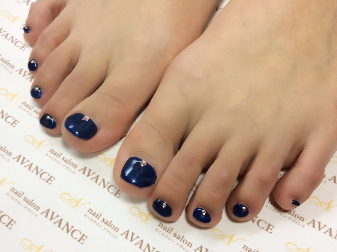 black nail classy design