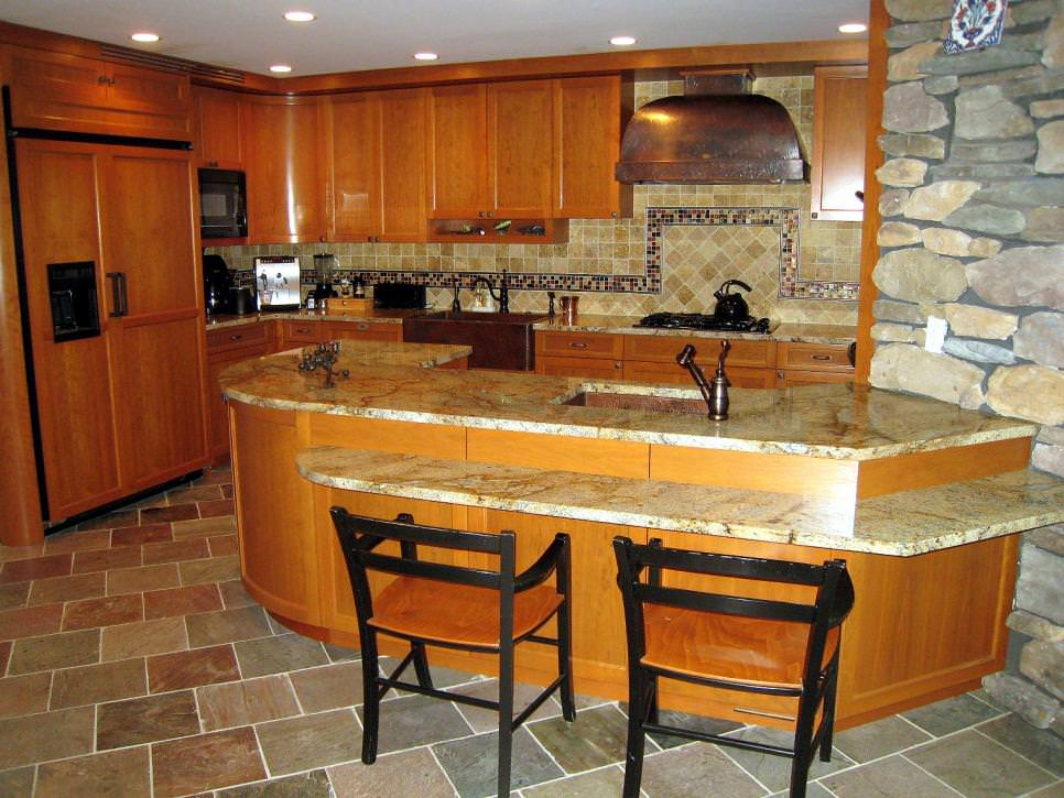 Natural Wood and Stone Kitchen design