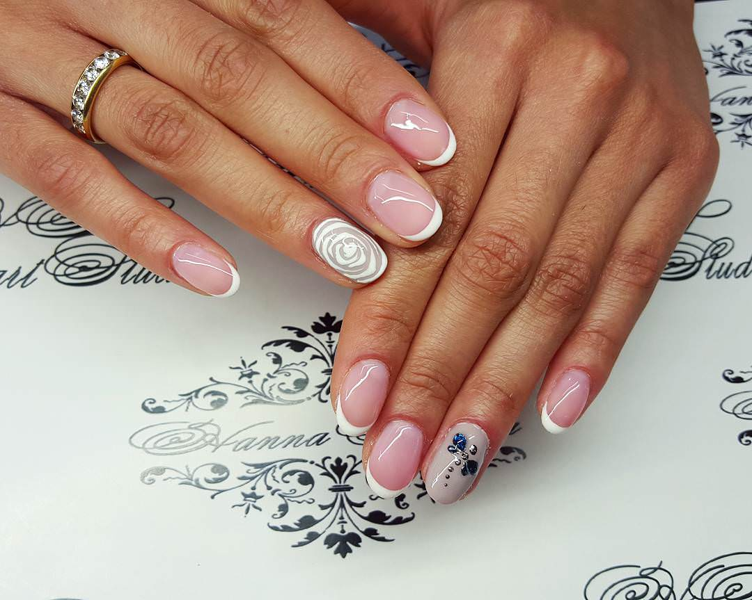 Pink Colored Nail Design
