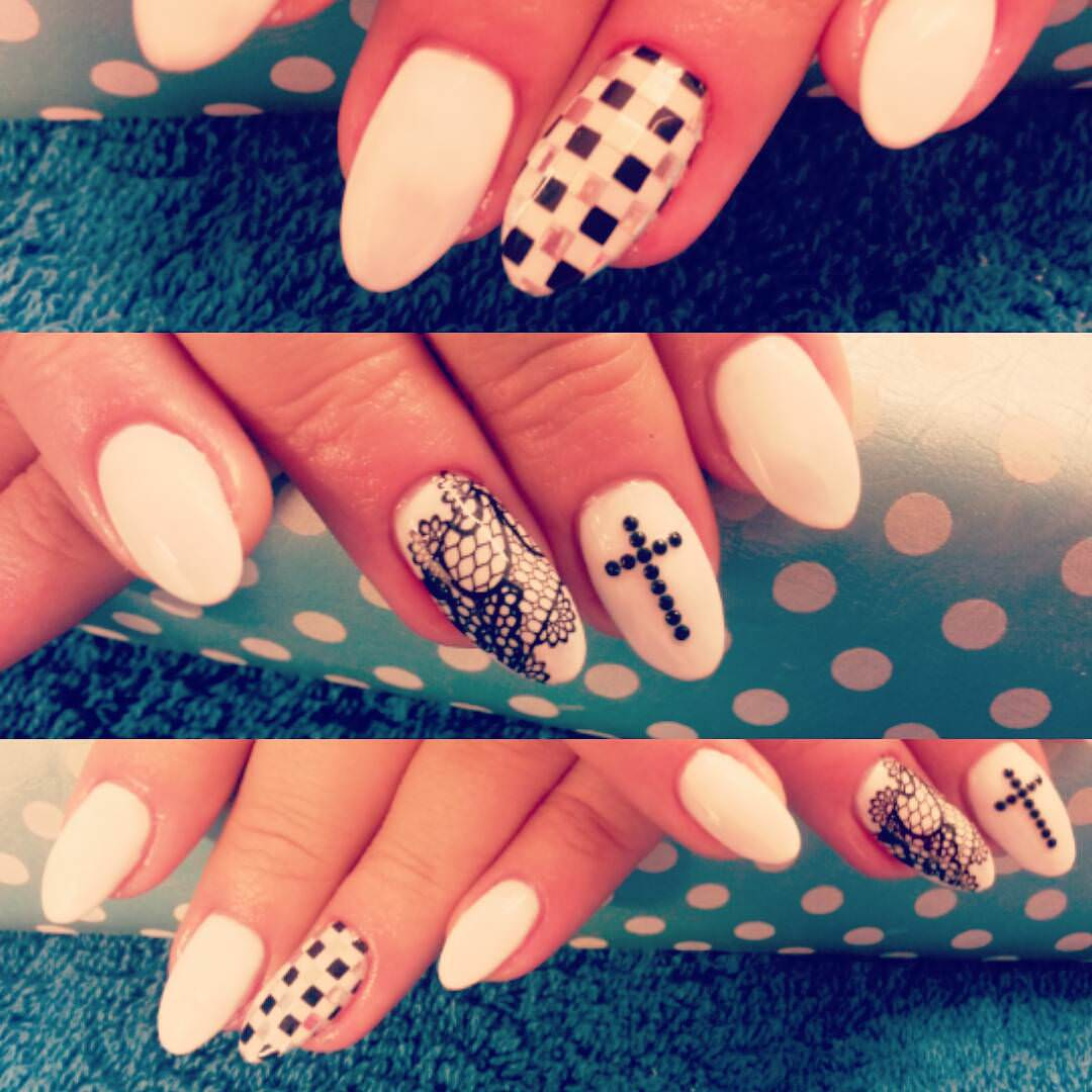 Set of Cross Nail Designs