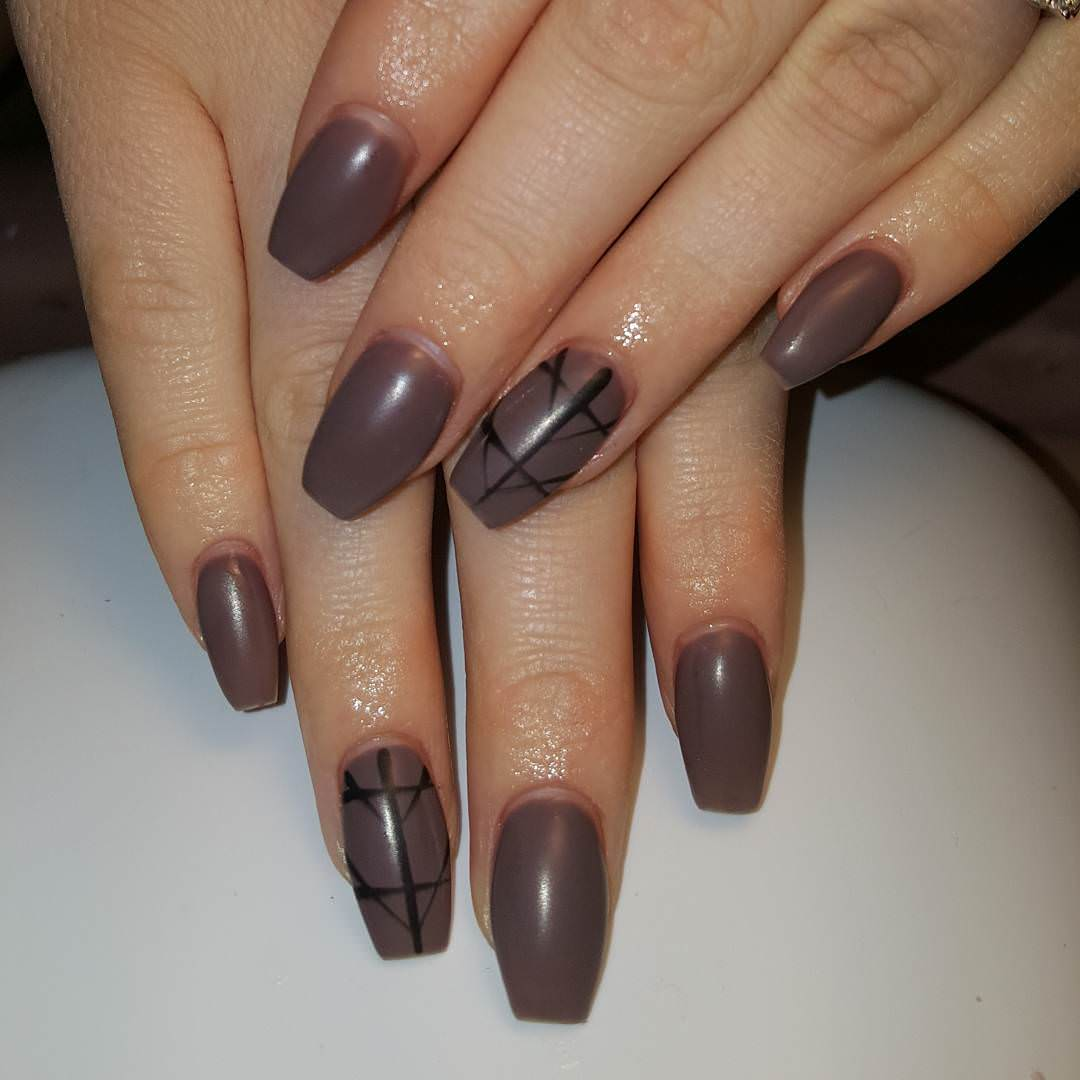 shellac nail manicure ideas simple nail design