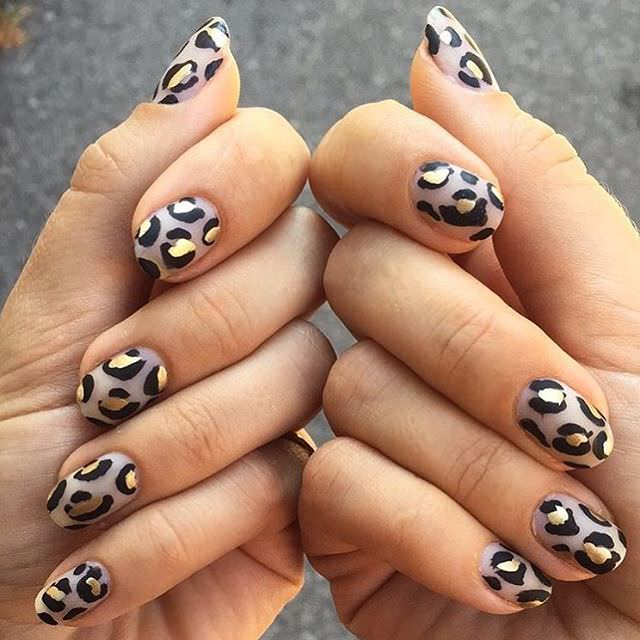 Dotted Type Nail Design