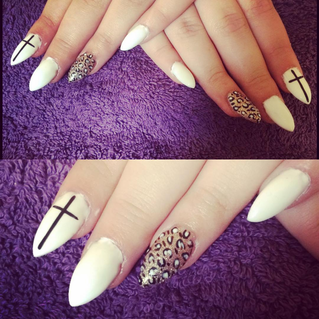 Pretty White Nail Design