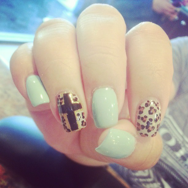 Dots on Cross Nails