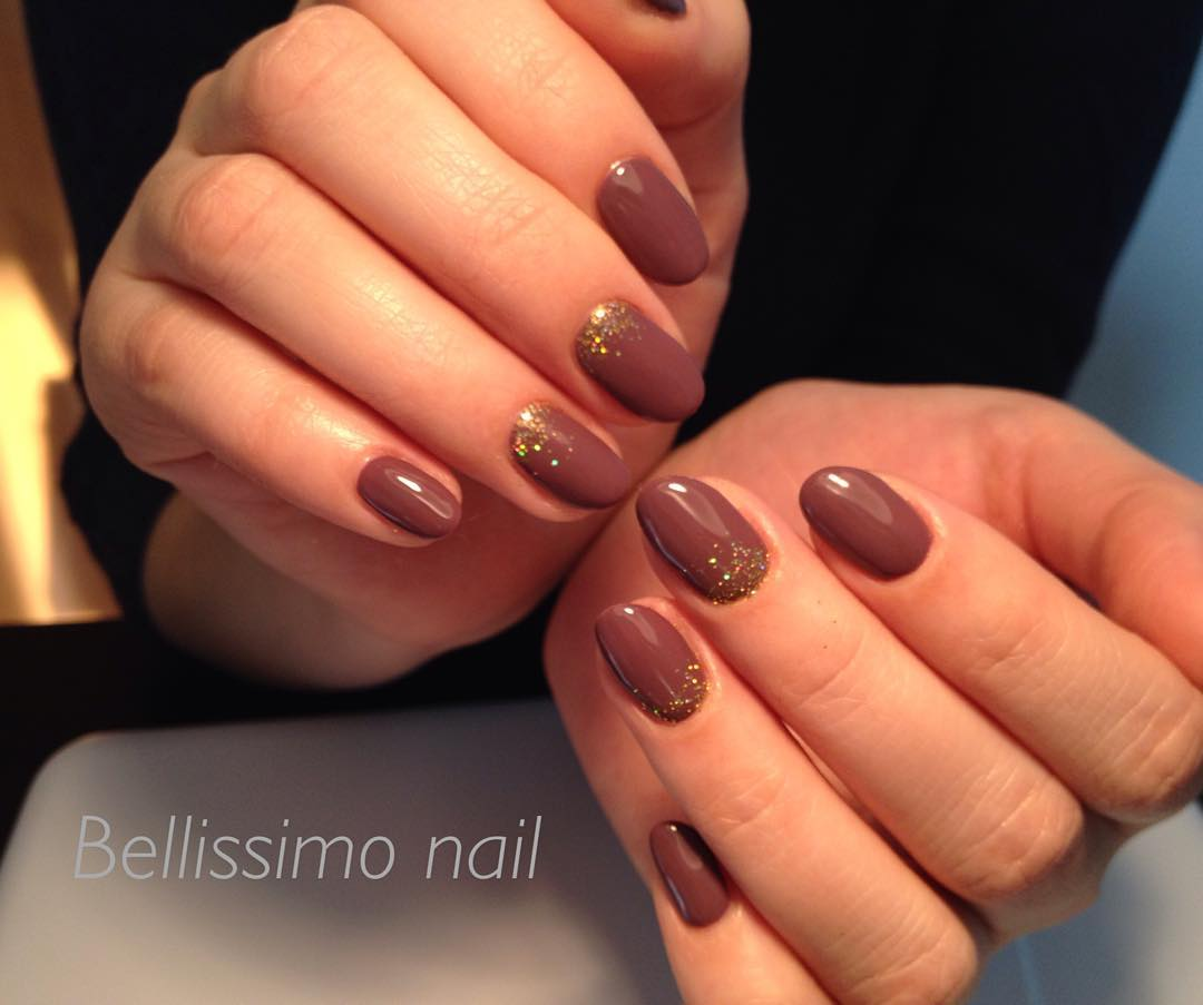 Chocolate Colored Nail Art.