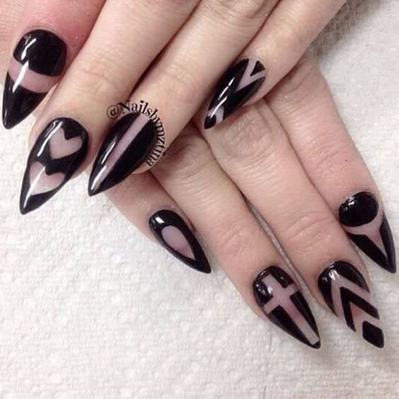 Black Nail Design Art