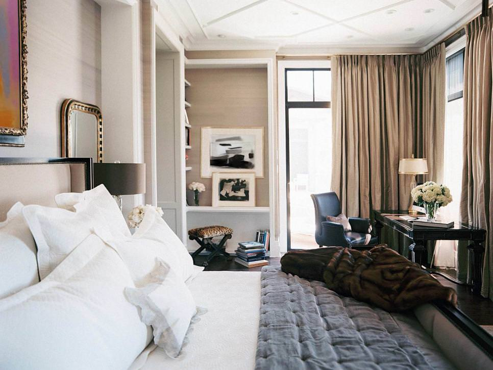 descent textural art deco bedroom