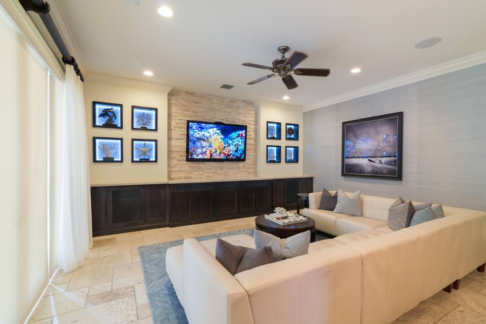 Modern Family Room With Nautical Touches