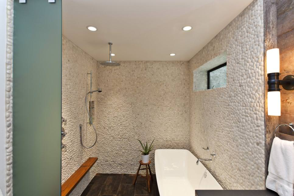 Charming Pebble Tile On The Walls Texture Design Part 24