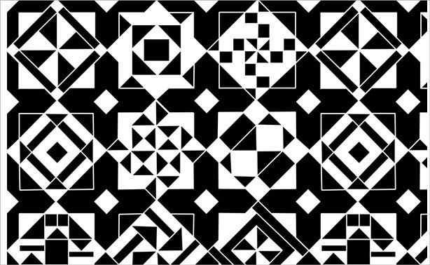 Simple Black and White Quilt Design Pattern