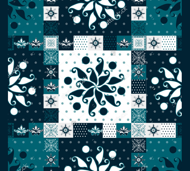 Decorative Set of Quilt Pattern