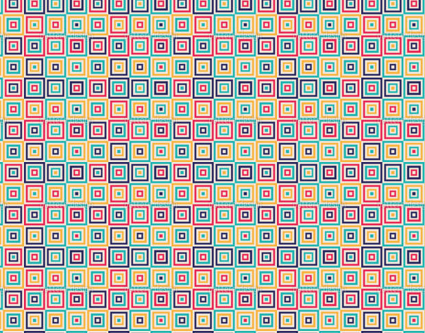 Multi Color Square Quilt Design Pattern