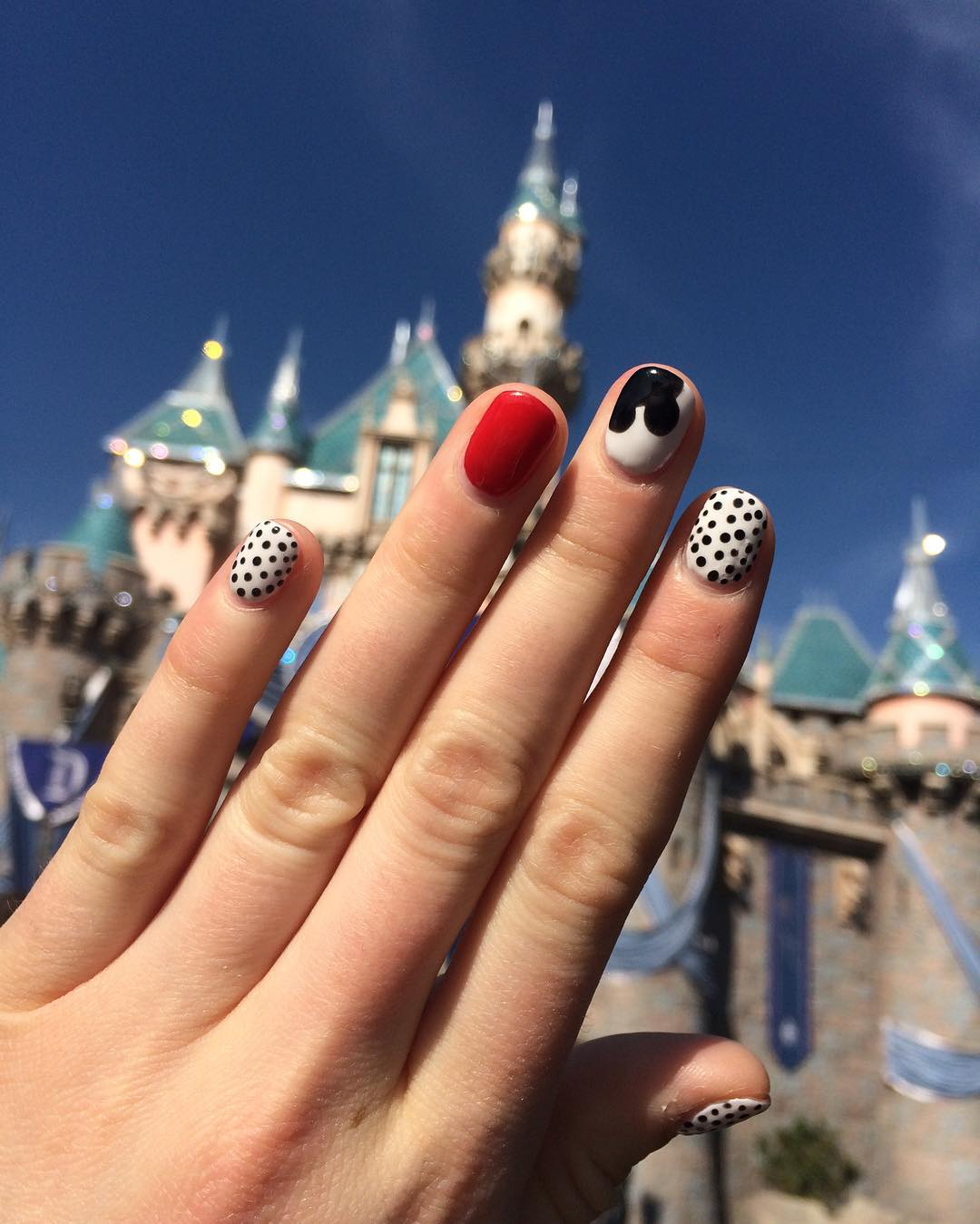 Disney Red Nail Design
