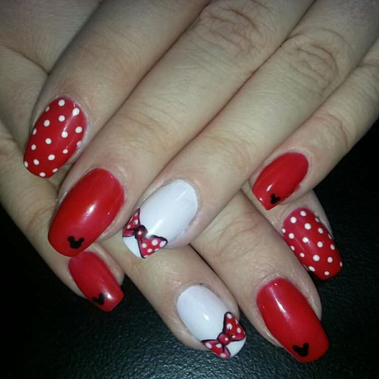 Disney Red Nail Art