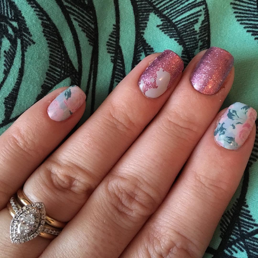 Disney Glitter Nail Design