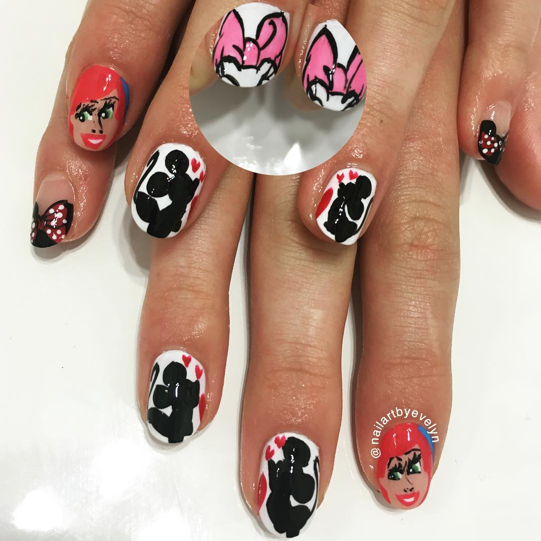 Mickeymouse Nail Art
