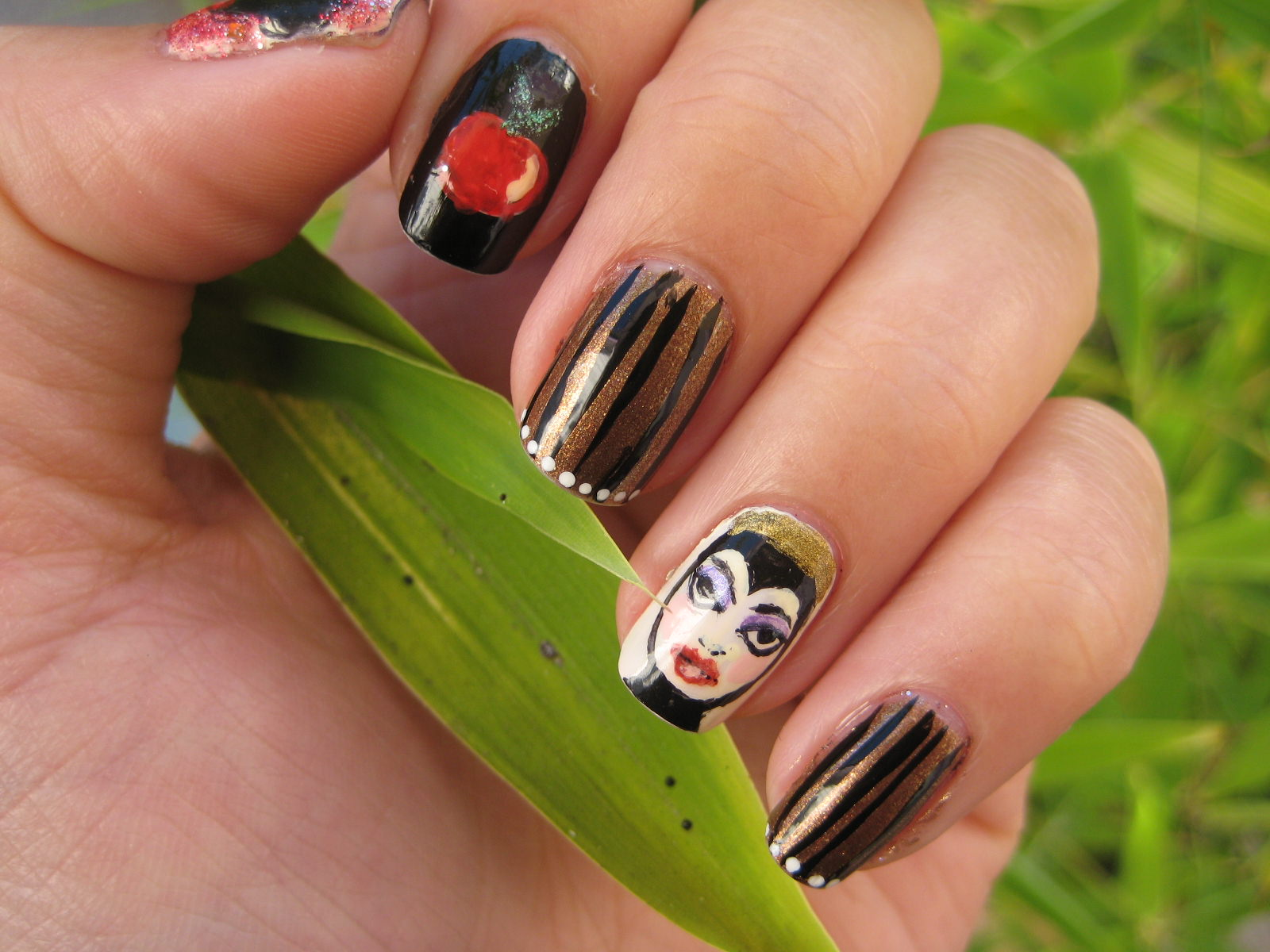 Natural Disney Nail Design