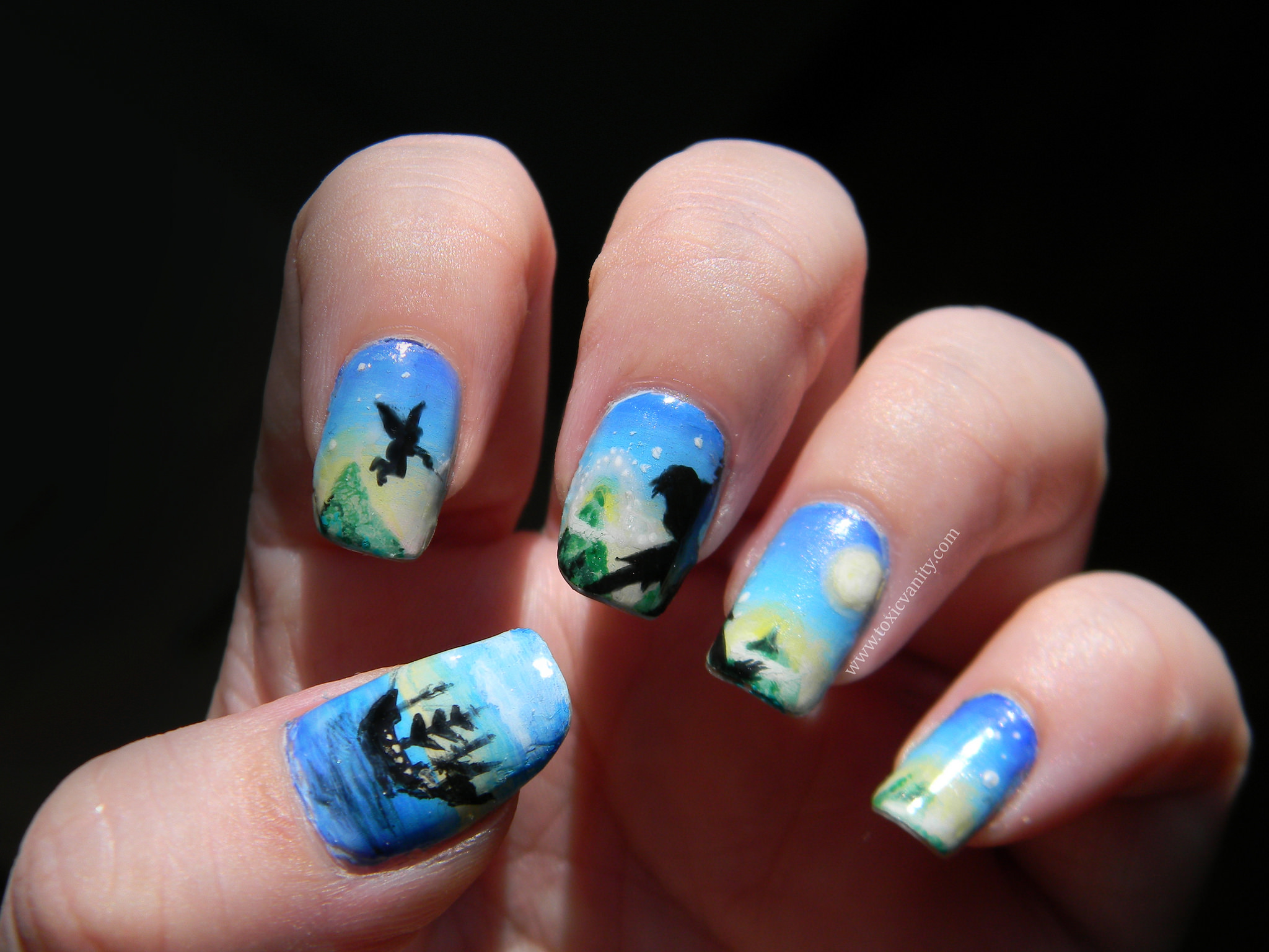 Nature Disney Nail Art