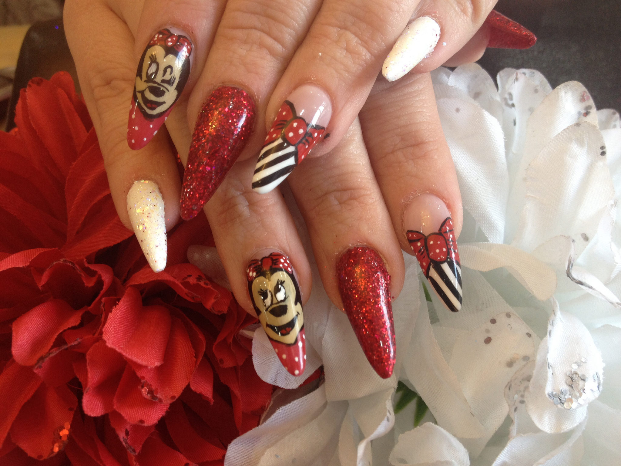 Beautiful Red Nail Disney