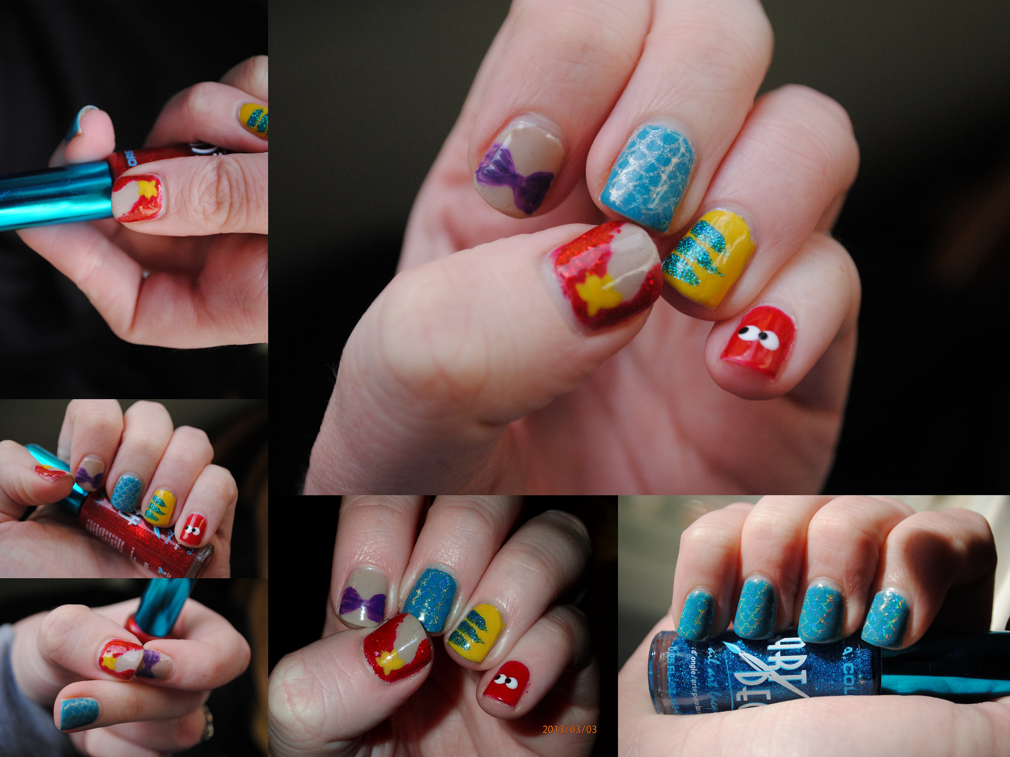 Colorful Nail Disney Art