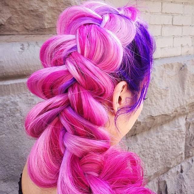 cool loose plait hair style