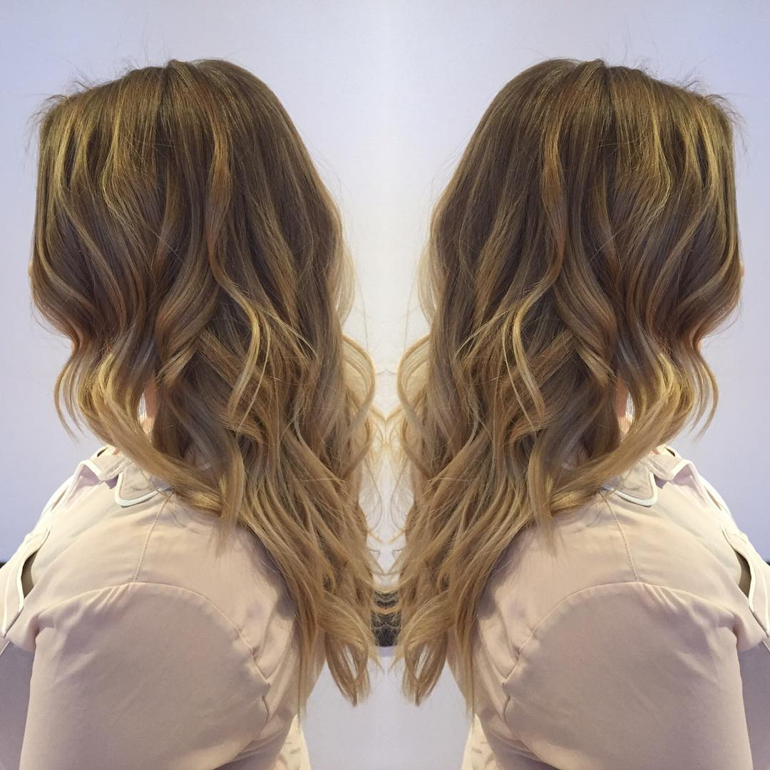 soft golden hair style