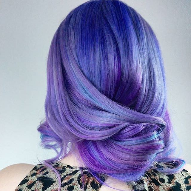 double color shaded curls hairstyle