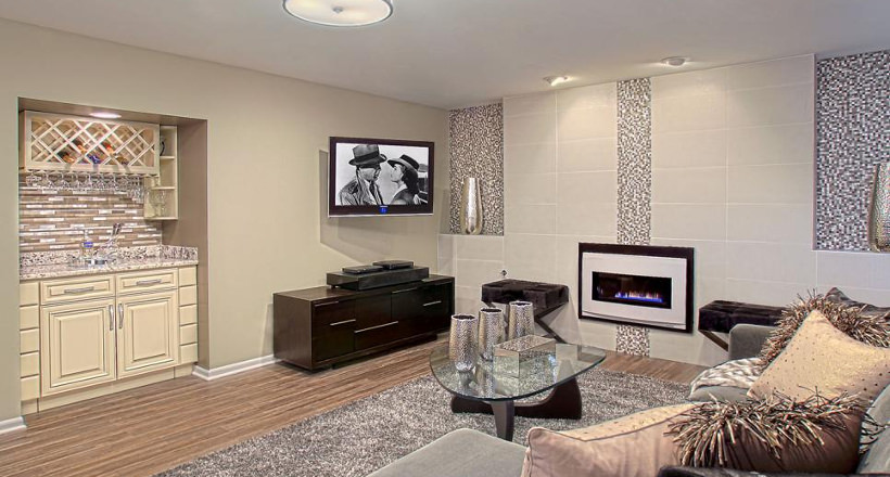 Effective Tile Wall Living Room Ideas