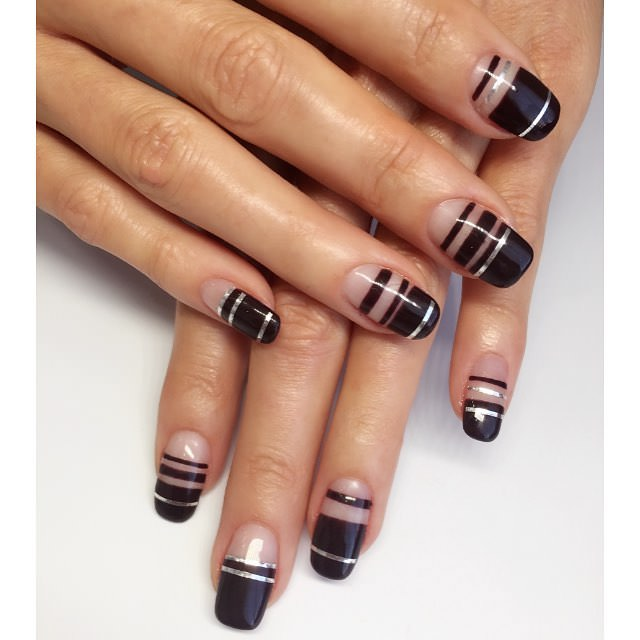 Black Nail Design - 28+ Line Nail Art Designs, Ideas Design Trends - Premium PSD