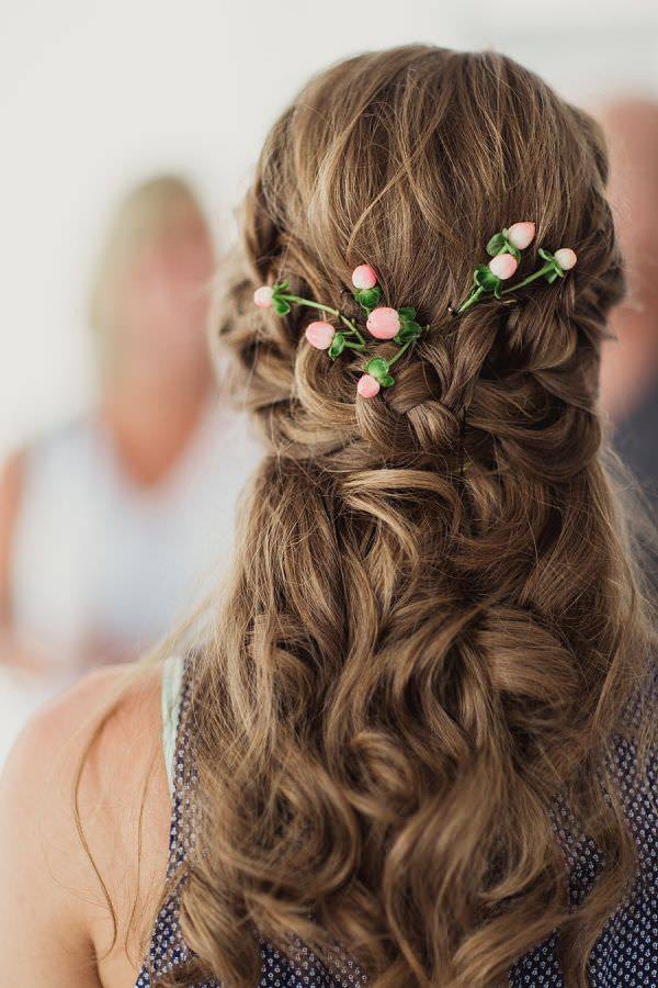 half up and half down bridesmaids hairstyle