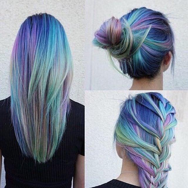 double shaded medium hair bun and french braid